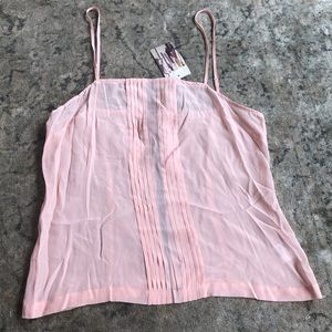 NWT Anthropologie Sparkle & Fade Blush camisole